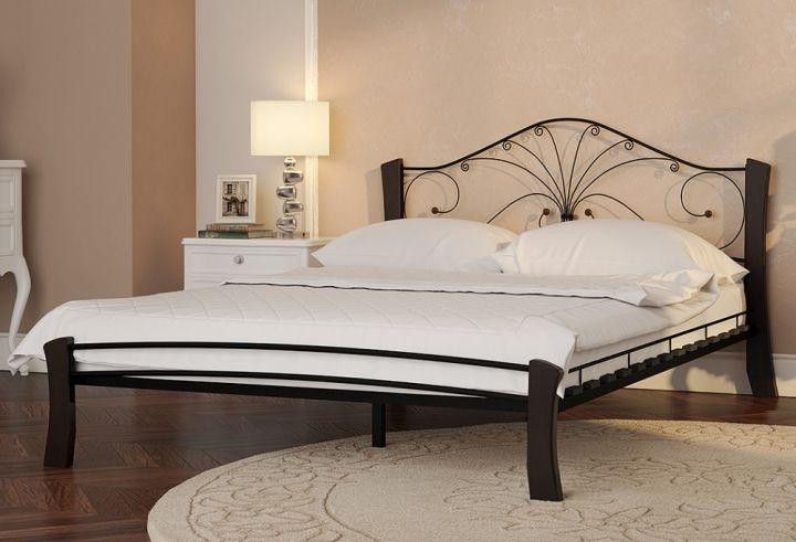 Кровать Фортуна 4 Лайт черный-шоколад ГЗМИ
