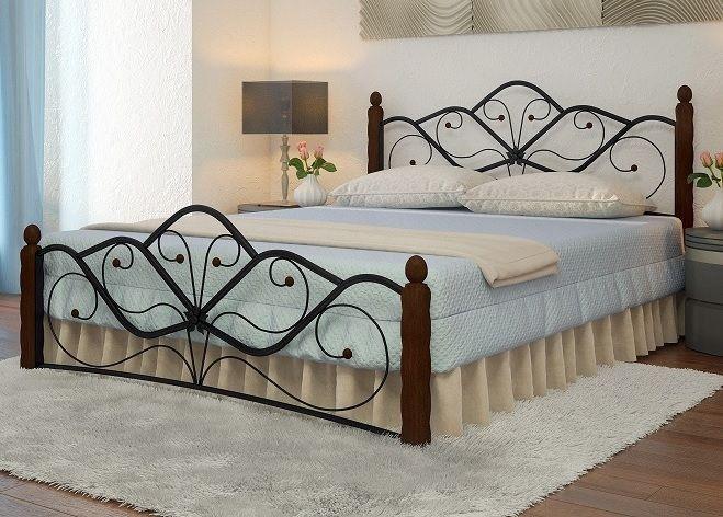 Кровать Венера 1 черный-шоколад ГЗМИ