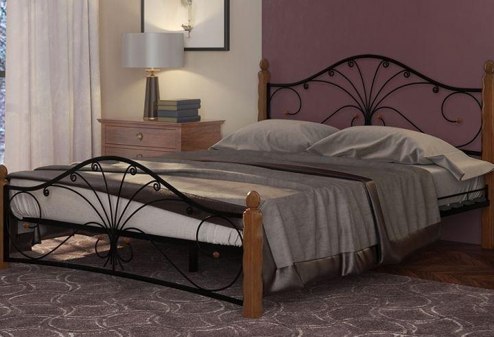 Кровать Фортуна 1 черный-махагон ГЗМИ