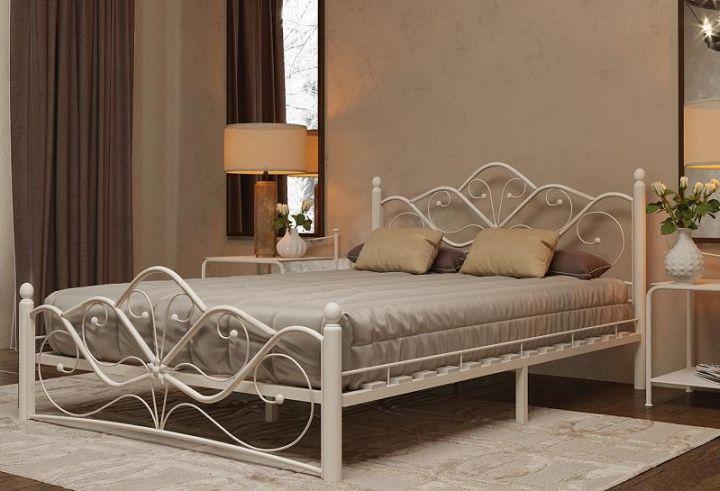 Кровать Венера 2 белый-белый ГЗМИ