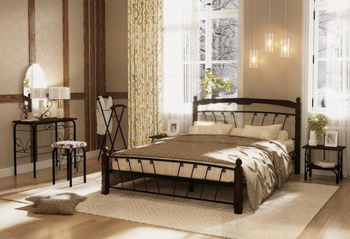Кровать Муза 1 черный-шоколад ГЗМИ
