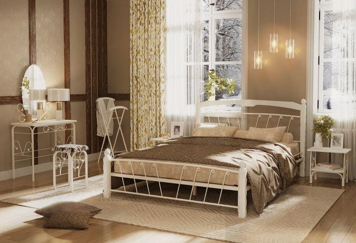Кровать Муза 1 белый-белый ГЗМИ